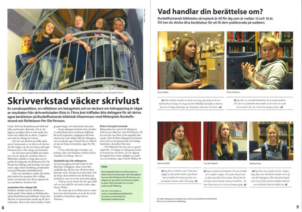 Intervju skrivgrupp - Malmö stad lokaltidning