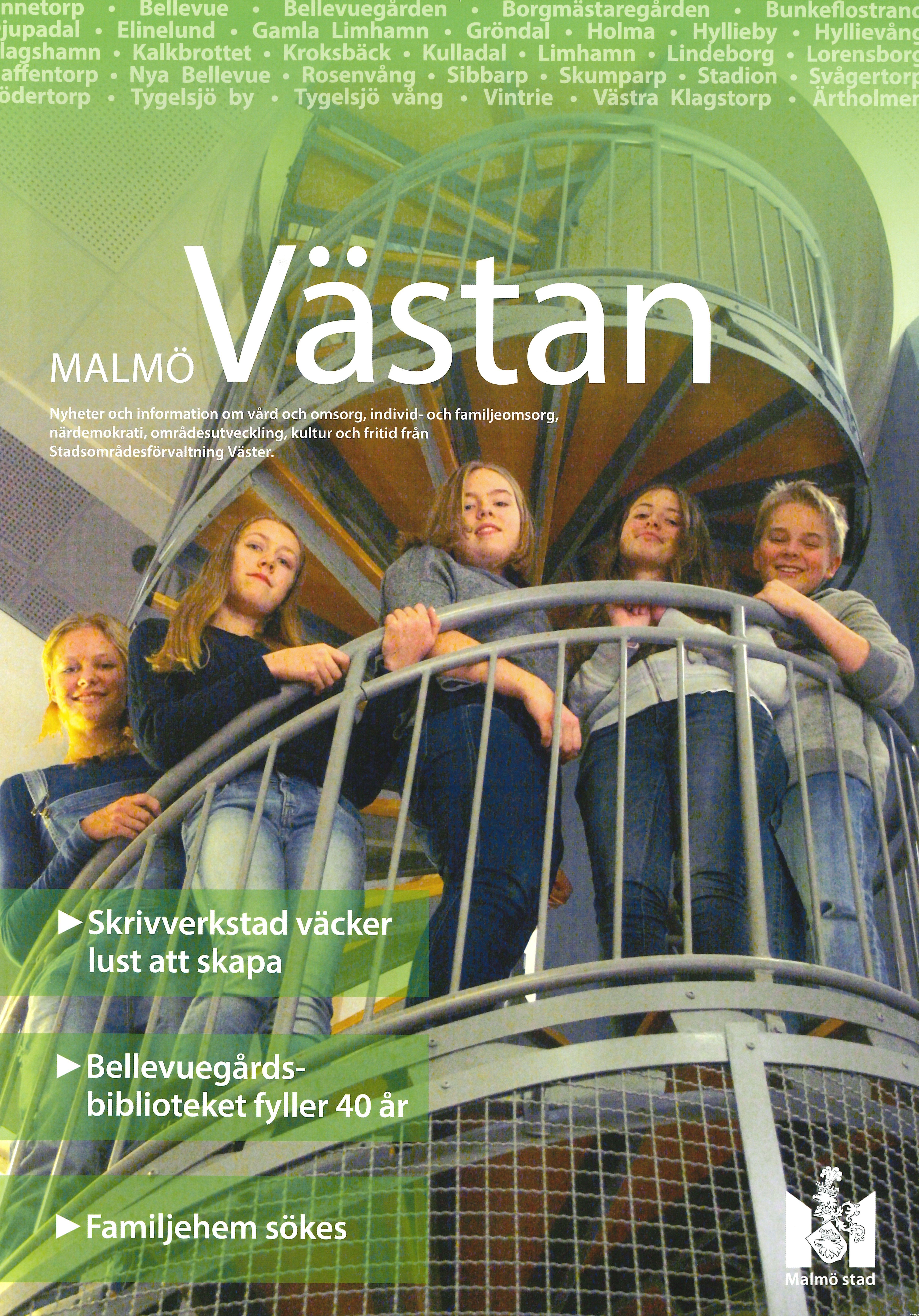 Omslag skrivgrupp - Malmö stad lokaltidning