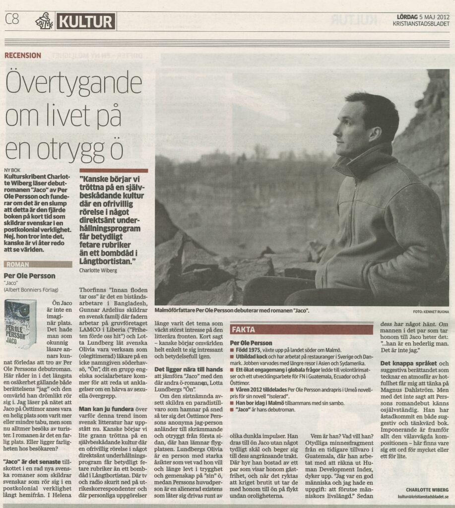Recension Jaco - Kristianstadsbladet